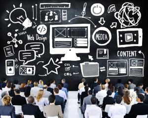 Business People Web Design Presentation Seminar Concept